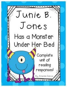 junie b jones has a monster under her bed book on pinterest