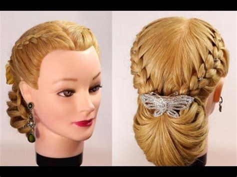 braided hairstyles youtube braided updo hairstyles for long hair youtube