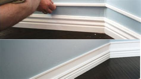 build up baseboards with wood trim and paint