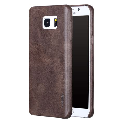 Xlevel Vintage Samsung Note 5 S7 Flat Edge Leather Back Cove T3009 products x level 皮皮鲁电子产品公司