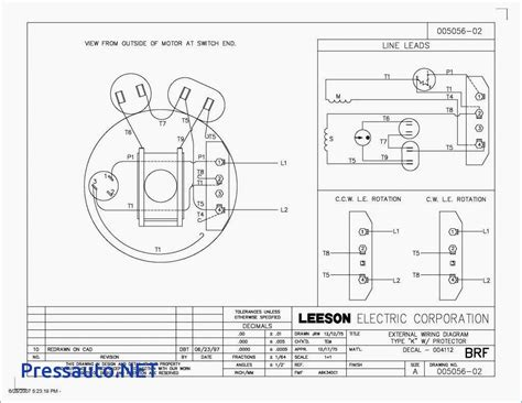 dual voltage single phase motor wiring diagram electric