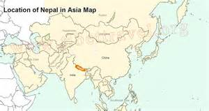 Location Of Nepal In World Map by Where Is Nepal Located On Map Nepal Map In Asia And World