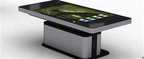 Tablet Coffee Table Hyundai It 70 Inch Table Monitor Looks Like An Sized