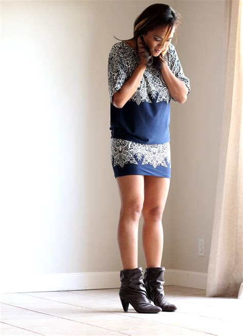 of the day vol 12 ankle boots and a bcbg dress