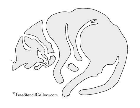 cat sleeping stencil  stencil gallery