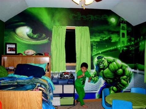 Cool hulk bedroom decor and design theme ideas for kids