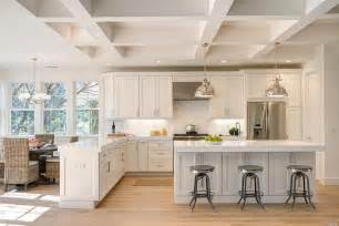 kitchen with island and peninsula 25 beautiful transitional kitchen designs pictures designing idea