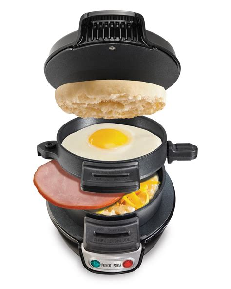 hamilton beach breakfast sandwich maker egg muffin kitchen home stove griddle ebay