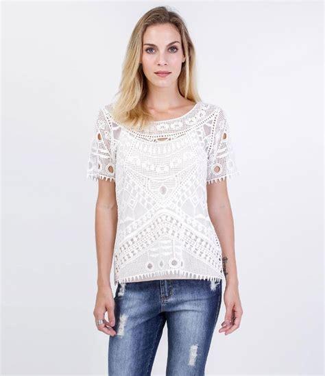 blusa feminina curta em renda bordados marca marfinno tecido renda composi 231 227 o 90