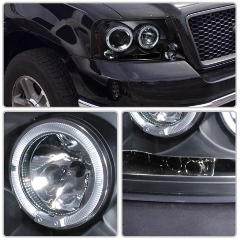ford f150 halo lights 04 08 ford f150 f 150 angel eye halo led drl projector