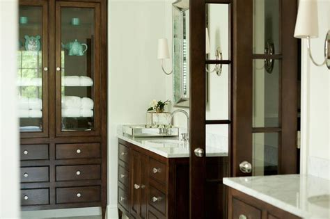 bathroom linen cabinet with glass doors designing bathroom cabinets french doors modern home