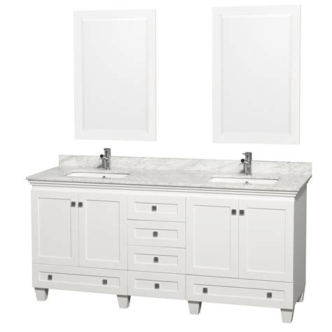 72 White Bathroom Vanity by Wyndham Bathroom Vanities Collection Modern Vanity For