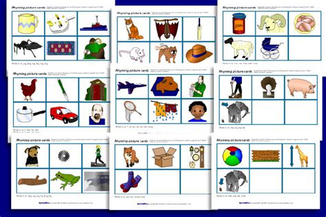 Gift Card Picture - rhyming picture cards sb1305 sparklebox