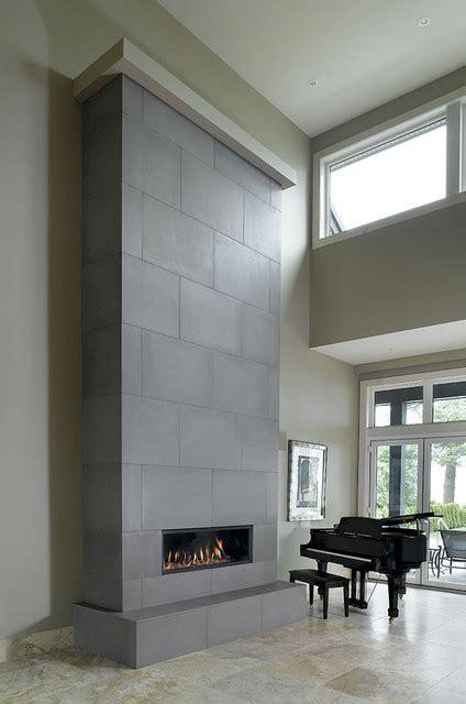 Concrete Fireplace Tiles   Contemporary   by Solus Decor Inc.