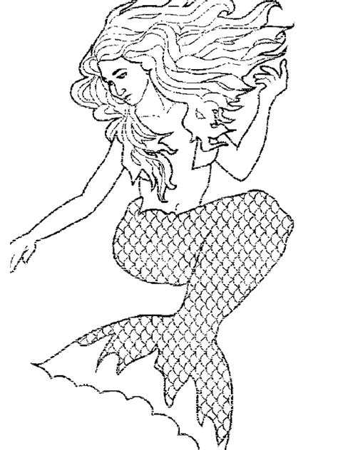 mermaid coloring pages free printable mermaid coloring pages for