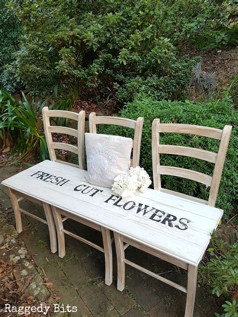 how to make a garden bench from a pallet how to make a farmhouse garden bench from old chairs