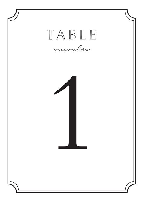 wedding table number size wedding table numbers printable pdf by basic invite