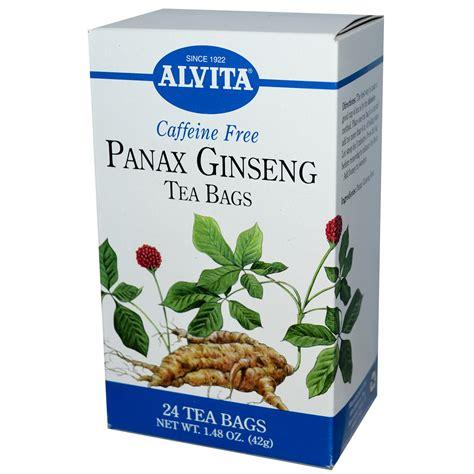 Ginseng Tea alvita teas panax ginseng caffeine free 24 tea bags 1
