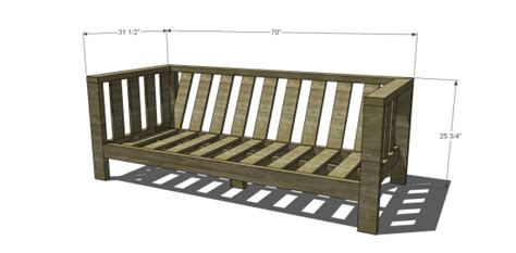 build your own couch plans free diy furniture plans to build a crate barrel