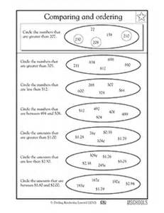 2nd grade math worksheets comparing 3 digit numbers