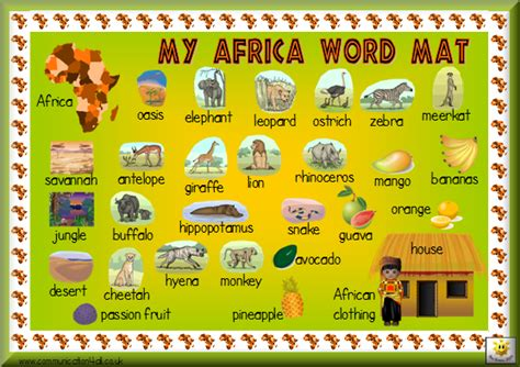 Word Mat by Africa