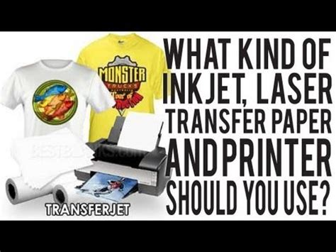 what type of transfer paper or printer should you use to t shirt business