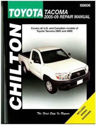 chilton car manuals free download 2011 volkswagen gti user handbook chilton 2005 2009 toyota tacoma repair manual