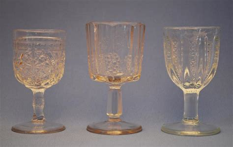 Pressed Wine Glasses Silver Quill Antiques And Gifts Antique Pattern Glass