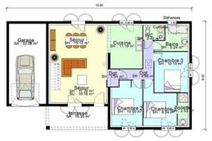 plan de plain pied avec suite parentale mezzanine