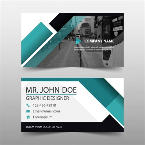 modern geometric business card template vector free