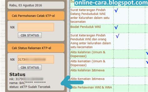 cara membuat ktp online jakarta cara mengecek e ktp online cara online