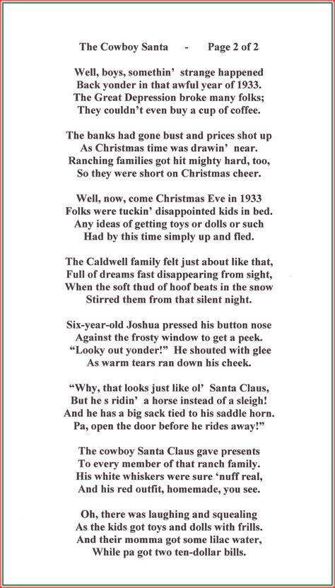 cowboy christmas poems songs    cowboy     stan