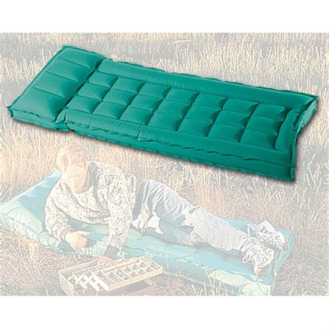 sevylor 174 single box rubber cotton cing mattress with raised pillow 127433 air beds at