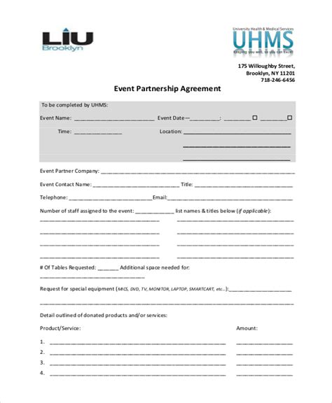 Sle Event Agreement Form 10 Free Documents In Pdf 3 Person Partnership Agreement Template