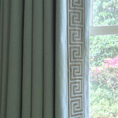 greek key curtains drapes today s hottest design trend that s been here since