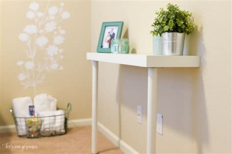 ikea console table hack diy ikea hack narrow console table shelterness