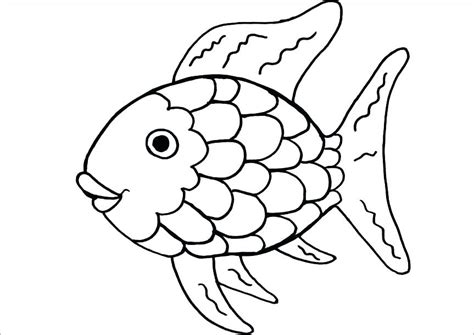 rainbow fish colouring template rainbow fish cutout fish bowl coloring page rainbow fish