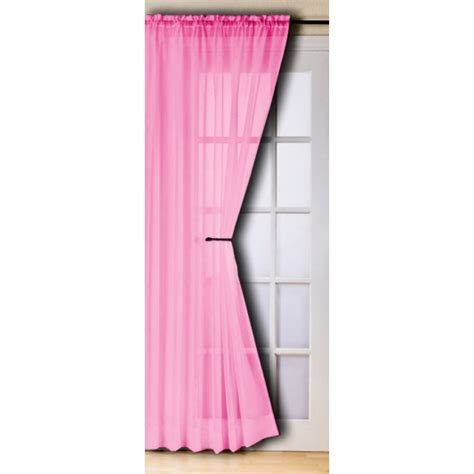 fuschia curtains slot top voile panels pair finished in fuschia