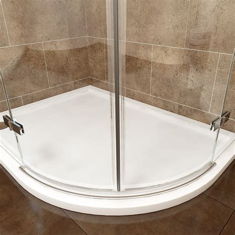 High Wall Quadrant Shower Tray Frameless Hinged Quadrant Shower Enclosure Door Cubicle