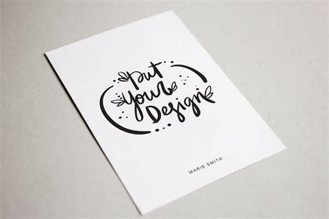template mockup card set invitation free postcard mockup free design resources