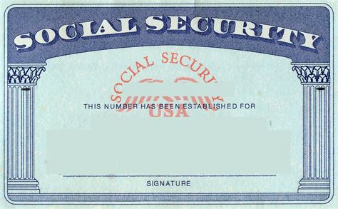 Editable Social Security Card Template by Blank Social Security Card Template Social Security Card