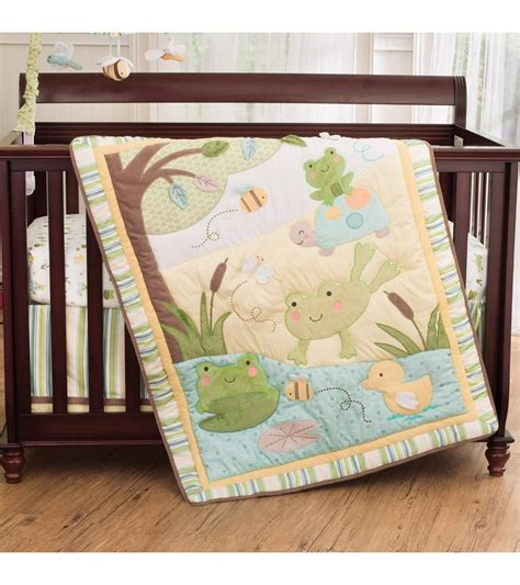 nursery bedding set s 4 crib bedding set in the pond