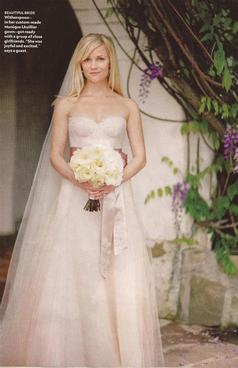 Reese Witherspoon Wedding Gown by Wedding Trends Blush Wedding Dresses The Magazine