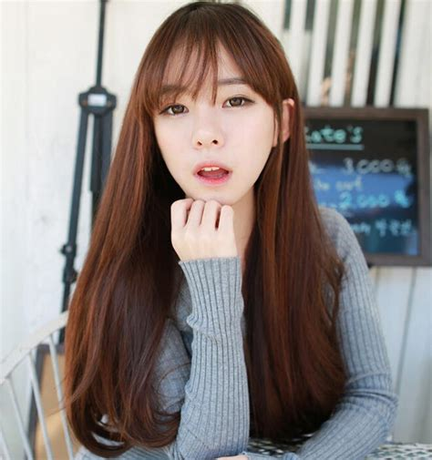 Hair Wig Untuk Anak High Quality From Korea 1 high quality thin bangs wig set of hair lifelike