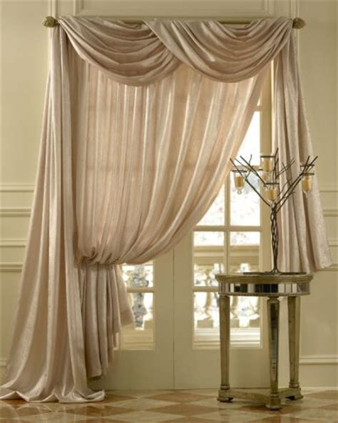 drapery window treatments leno stripe sheer scarf swag window topper available in 5