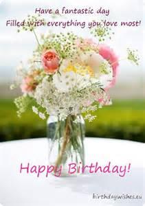 birthday card with wildflowers birthday wishes