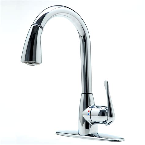 chrome kitchen faucet shop cleanflo andromeda chrome 1 handle pull down deck
