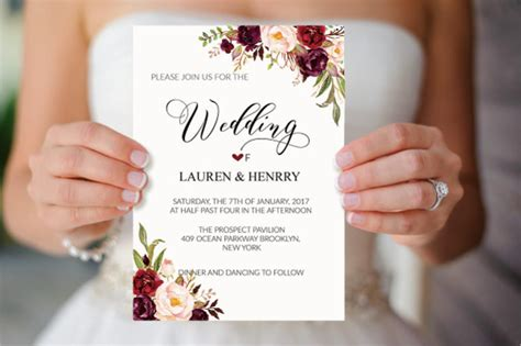 Simple Wedding Invitation Templates by 21 Simple Wedding Invitation Templates Free Premium