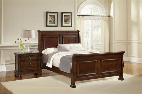 vaughan basset reflections sleigh bedroom set  dark cherry