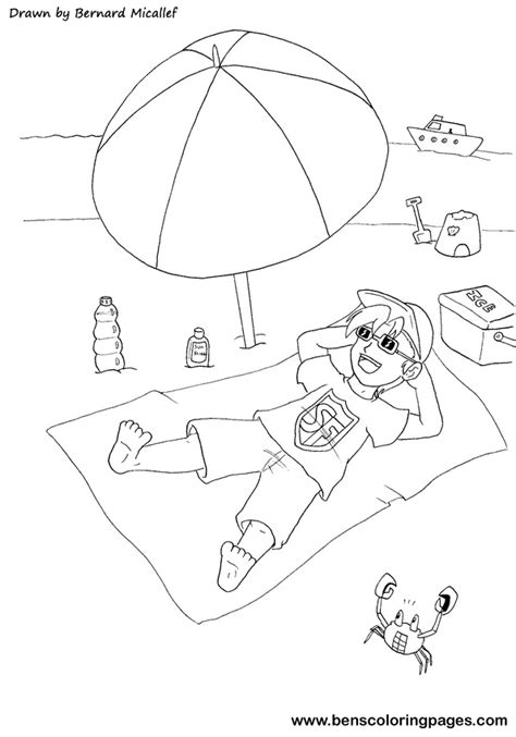 free coloring pages of sun safety